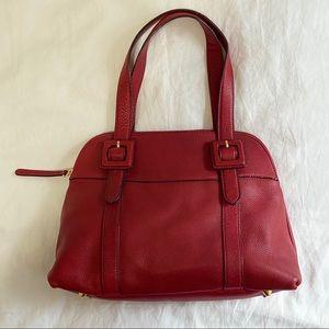 Red Leather Handbag. Giani Bernini
